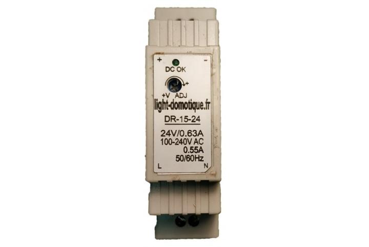 L&D Rail Din 24V DC 0,63A Power supply DR-15-24
