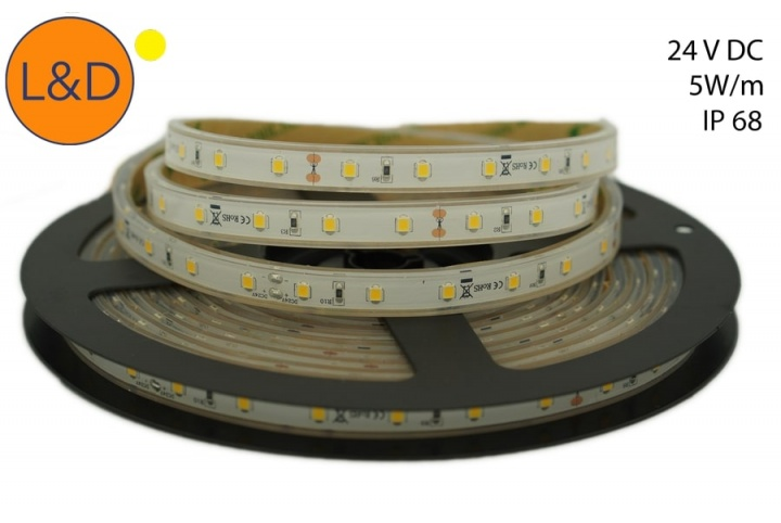 IP68 5W/m Warm white LED strip