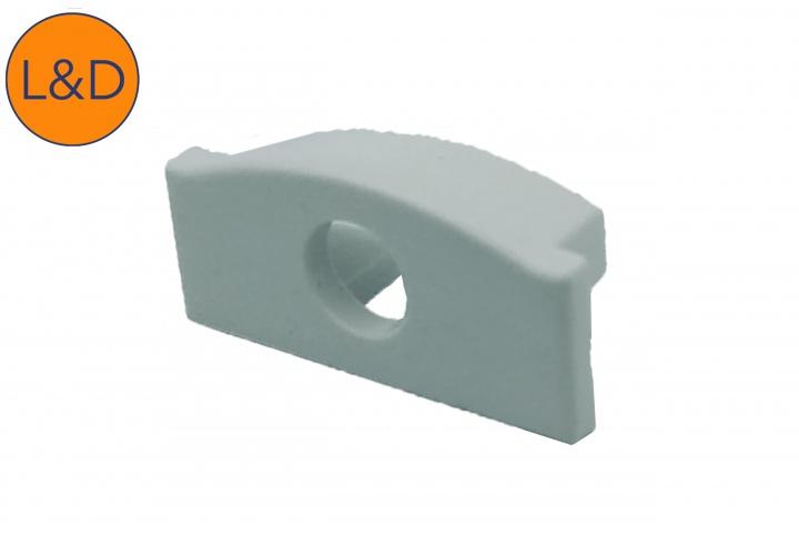 Accessoire bouchon avec trou pour profil ruban blanc IP20