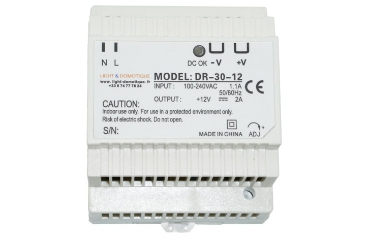 L&D Din Rail 12V DC 2A Power supply DR-30-12