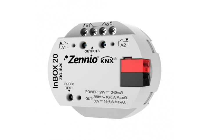 Zennio inBOX 20 actuator for flush mounting 2 outputs