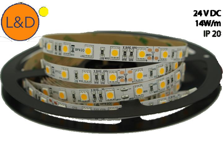 IP20 14W/m Warm white LED strip