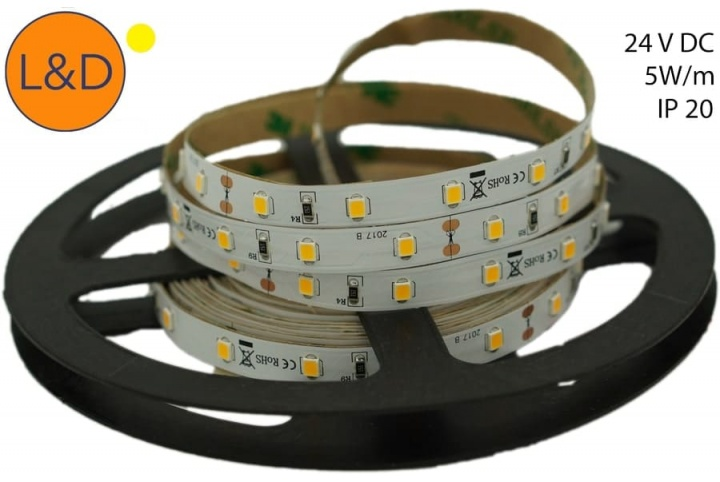 IP20 5W/m Warm white LED strip