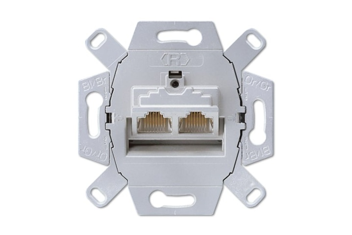 JUNG Double RJ45 plug mechanism UAE8-8UPOK6