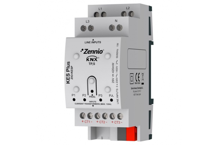 Zennio KES Plus KNX Electrical energy meter ZIO-KESP