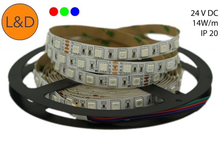 IP20 14W/m RGB LED strip