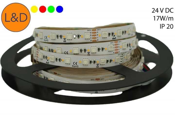 IP20 17W/m RGBWW LED strip