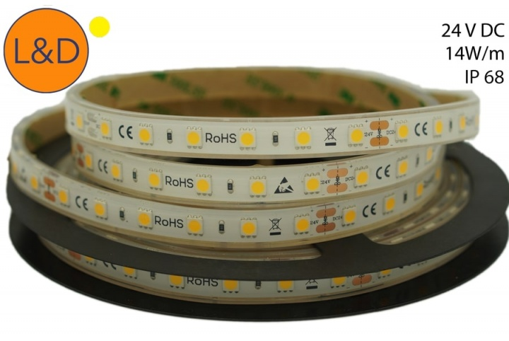 IP68 14W/m Warm white LED strip