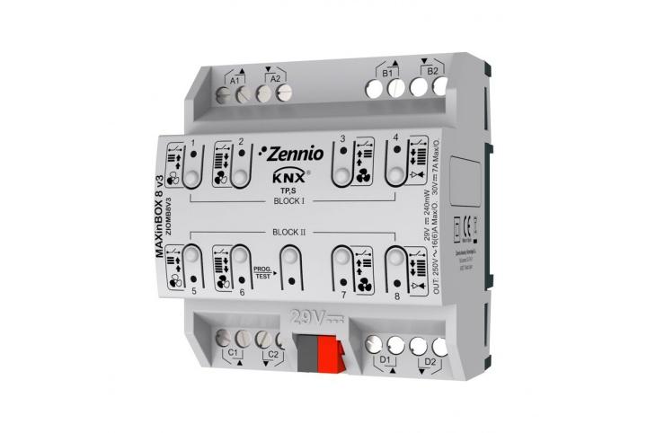 MAXinBOX 8 V3 Zennio Actuator 8 outputs KNX