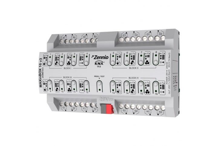 MAXinBOX 16 V3 Zennio Actuator 16 outputs KNX