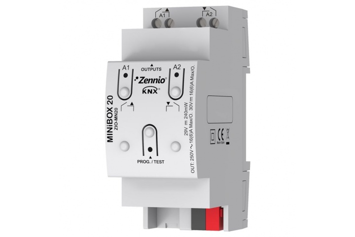 MINiBOX 20 Zennio Actuator 2 outputs KNX -  ZIO-MN20