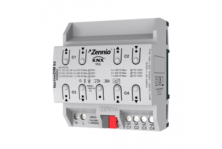 Zennio inBOX DIM dimmer for flush mounting ZDI-IBD