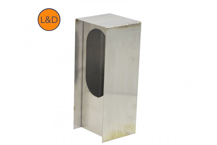 2-gangs brushed stainless steel post