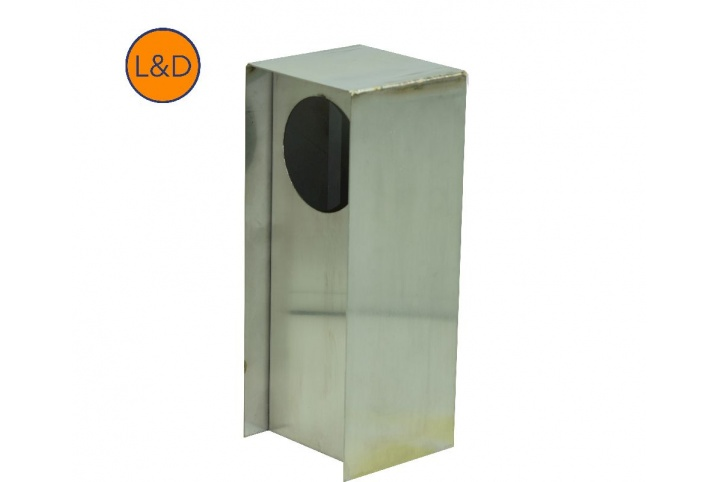1-gang brushed stainless steel post