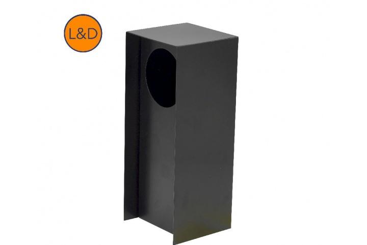 1-gang matt black 9005 post