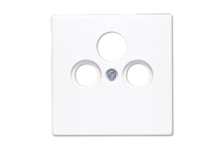 Centre plate for SAT-TV-FM socket