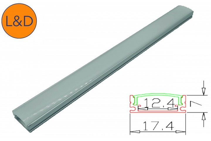 Milky finish aluminium profile for IP20 white LED strip
