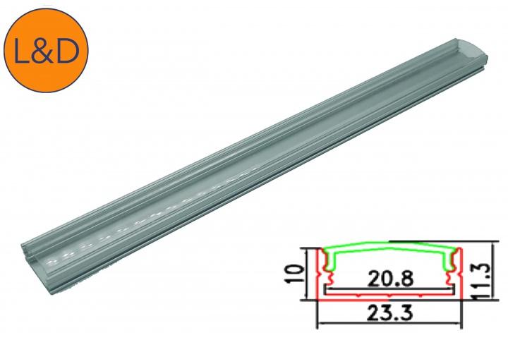 Large transparent aluminium profile