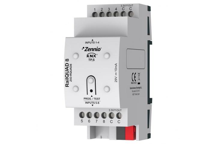 Zennio RailQUAD 8 8 Input module