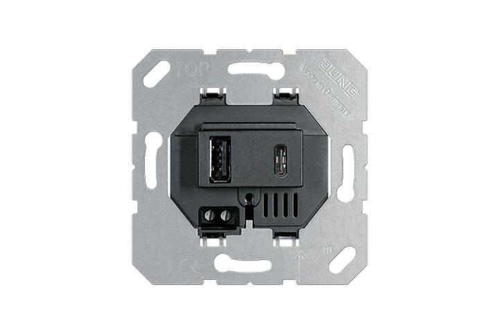 JUNG Dual USB Wall Charger 15 CA