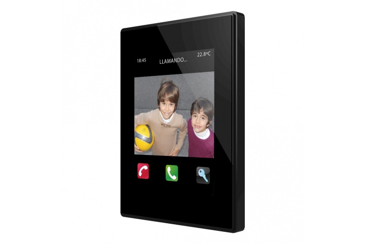 Zennio Z41COM Color capacitive touch panel with video intercom. ZVI-Z41COM