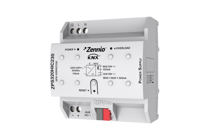 Zennio 320mA KNX power supply ZPS-320HIC230